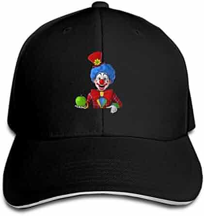7c5c72814fc Funny Clown Baseball Cap Trucker Hats Adjustable Dad Hat Peaked Flat for Men  Women