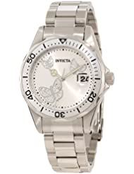 Invicta Womens 12503 Pro Diver Silver Dial Watch