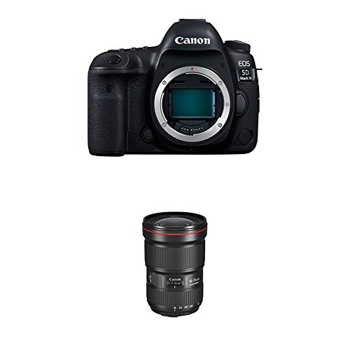 Canon EOS 5D Mark IV Full Frame Digital SLR Camera Body with Canon EF 16–35mm f/2.8L III USM Lens