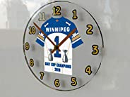 Winnipeg Blue Bombers - CFL Grey Cup Champions 2019 Commemorative Jersey Themed Wall Clock - Lets GO Bombers -