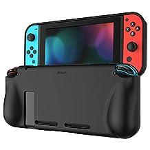 JETech Funda Protección con Tope Shock-Absorción Carcasa Case para Nintendo Switch 2017, Negro