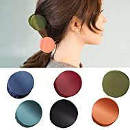 Beautymood 6 pcs Macaroon Hair Clips, Hair Clamps Vintage Simple Non Slip Claw Clips Hair Accessories for Wome, Hair Jaw Clips Hair Claw Pins Hair Claw Barrettes