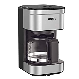 KRUPS Simply Brew Compact Filter Drip Coffee Maker, 5-Cup, Silver