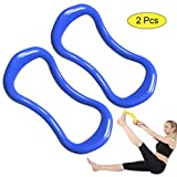 Sunsign Yoga Ring Pilates Training Ring for Back and Leg Pain Home Workouts Gym for Stretches and Strengthen Chest Thighs Arms Core