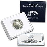 2008 S Bald Eagle Brilliant Uncirculated Commemorative 50c Half Dollar BU OGP Box w/COA US Mint