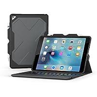 ZAGG Rugged Messenger Backlit Bluetooth Keyboard Case for 2017 Apple iPad Pro 10.5 (Black)