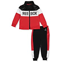 Reebok Little Boys' Toddler Tricot Tracksuit