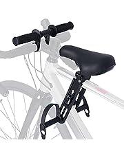 Souarts Barncykelstol för mountainbikes, från 2 till 5 år upp till 48 pund, justerbar frambarnstol cykelstyre, främre monterade cykelsäten bärbar avtagbar