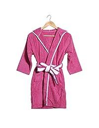 Kids Girls 100% Terry Cotton Bathrobe Housecoat Robe for Tween Girls