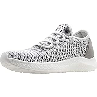 BenSorts Mens Slip On Sneakers Breathable Running Shoes Mesh Casual Shoes for Walking Jogging Size 11 Grey