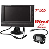 4Ucam 7 LCD Digital Monitor Wired Backup Rear View CCD RV Bus Camera