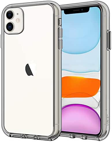 JETech Case for Apple iPhone 11 (2019), 6.1-Inch, Shock-Absorption Bumper Cover, Anti-Scratch Clear Back, Grey