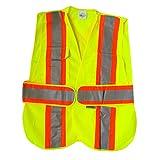 Uperlon Hi -Viz Orange safety Vest, 3M stripe, 5 point tear away