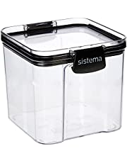 Sistema J7S91 Ultra Square Food Container, 700ml, Black and Stone