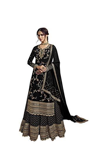 Royal Export Women's Faux Georgette Plazzo Salwar Suit Set