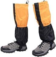 Azarxis Fleece-Lined Leg Gaiters, Waterproof Snow Boot Gators Hiking Gaiters for Kids Lightweight Outdoor Walk