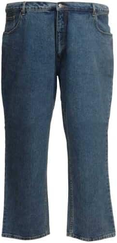 Kam Classic Jeans Large Size Short Cotton Blue