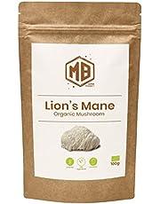 MB Superfoods Lion's Mane 100% Biologisch Paddenstoel Poeder 100 Gram, Veganistisch. Lions Mane