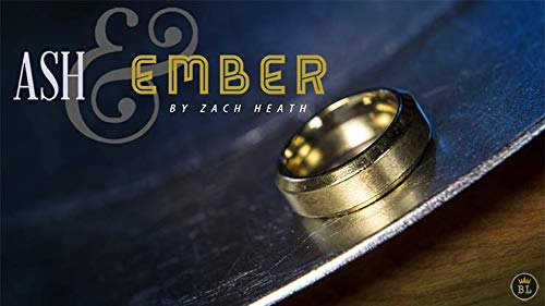 Ash and Ember oro Beveled Dimensione 8 (2 Rings) by Zach Heath - Trick