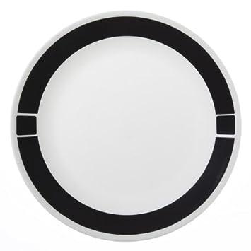 piece dinner plate set urban black kitchen sets walmart argos corelle square