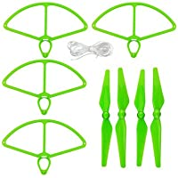 UUMART 4 Propellers and 4 Prop Guards for DJI Phantom 4 RC Quadcopter Spare Parts Self-tightening Propeller-Green