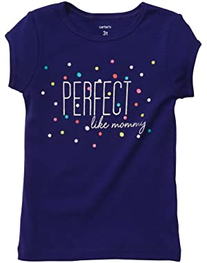 Baby Girls Perfect Like Mommy Tee Top (6 Months, Purple)