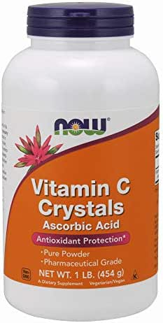 Now Supplements, Vitamin C Crystals (Ascorbic Acid), Antioxidant Protection*, 1-Pound