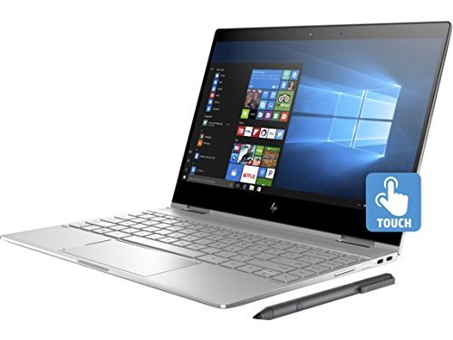 HP Spectre x360-13t 2-in-1 Laptop, Core i7-8550U, 16GB RAM, 512GB PCIe SSD, 13.3in FHD IPS micro-edge Touchscreen, Windows 10, Silver (Renewed)