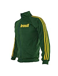 Brazil Green Capoeira Zipped Jacket Brasil Tracksuit Jumper Man Top Retro Design