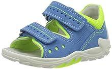 superfit Flow, Sandalias para Bebés, Azul Azul Amarillo 80, 20 EU