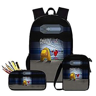 Among Us Backpack, Among Us Shoulder Bag, Among Us Pen Case - Set 3 Among Us Waterproof Bags for Boy, Girl, Men and Women Style 9