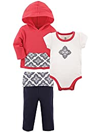 Baby and Toddler 3 Piece Jacket, Top and Pant Set