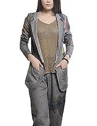 Voguestand Women's Cozy Latest Autumn 2015 2 Colors 1 Sizes Pants Gray One Size