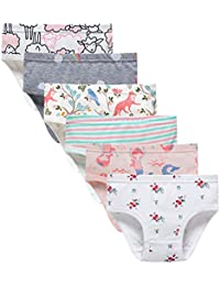 Baby Soft Cotton Panties Little Girls Briefs Toddler Underwear (Pack of 6) 2 75bc3795c