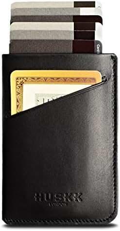 Slim RFID Wallet for Men Leather - Front Pocket Card Holder Sleeve - RFID Blocking