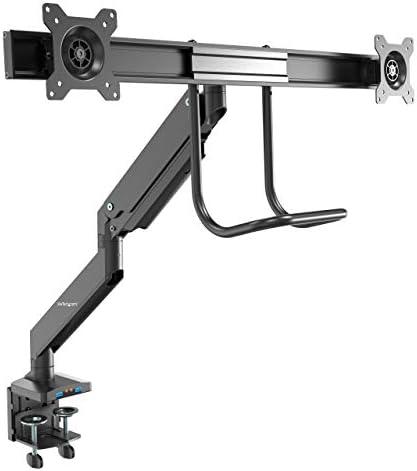 Desk Mount Dual Monitor Arm SYNCED Height Heavy Duty