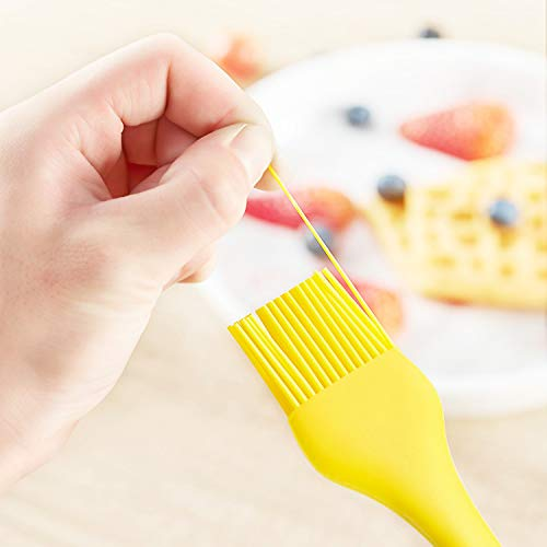 Basting Brush - 100% Food Grade Silicone Baking Pastry Brush, BBQ and Oil Brush,for Food, Grilling, Baking, Cooking ,Turkey Baster Kitchen Utensil-Use for Butter, Sauces and Marinades