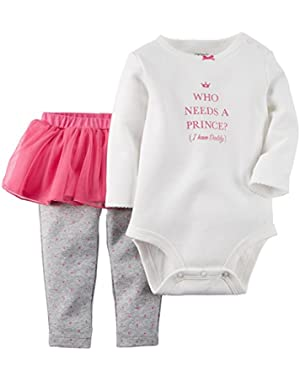 Baby Girls' 2 Piece Bodysuit Set (Baby)