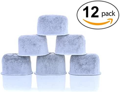 12-Pack KEURIG Compatible Water Filters by K&J - Universal Fit (NOT CUISINART) Keurig Compatible Filters - Replacement Charcoal Water Filters for Keurig 2.0 (and older) Coffee Machines