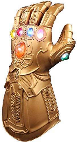 Guante de los Vengadores con Luces led, Guantele Thanos Vengadores 4 Final del Juego Iron Man Infinity Gauntlet Hulk Thanos Capitan America Thor Cosplay con 2 pilas recambio
