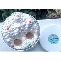 6oz FROYO Floam Marshmallow Scented + DONUT or ICE CREAM CHARM - Handmade Slime - Crunchy - Squishy - F*U*N! - Smells Yummy! Homemade in USA