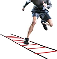 Gojiny 5m Agility Ladder Speed Ladder Training Ladder for Soccer, Speed, Football Fitness Feet with Training C