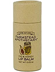 Farmstead Apothecary 100% Natural Lip Balm with Organic...