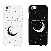 I LOVE YOU TO THE MOON AND BACK Couple Matching Phone Cases (iPhone 6+, iphone 6)