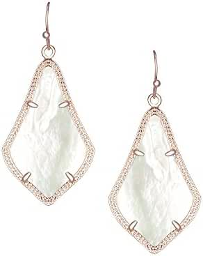 Kendra Scott Signature Alex Earrings in Rose Gold Plated & Ivory Mother of Pearl