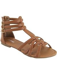 Mavis-7 Women Buckle Zip Gladiator Sandal