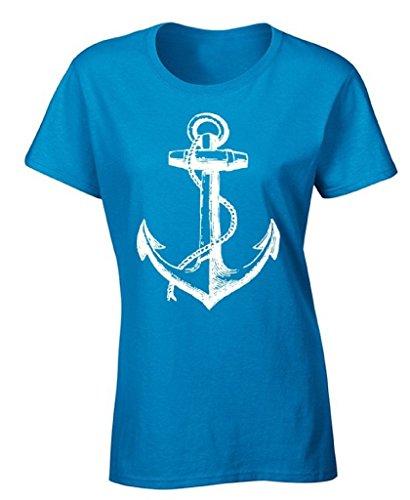 Ptshirt.com-19242-icustomworld Women\'s Anchor T-shirt White Nautical Anchor Marine Fashion Shirt-B00ZIWNING-T Shirt Design
