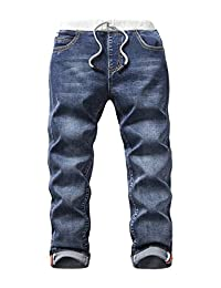 HOLLAGLEE Boys' Premium Skinny Jeans Slim Fit for Toddlers Kids and Big Boys