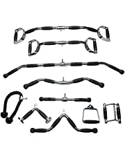 LHXFAN Kabel Machine Attachments, Home Gym Equipment Workout Sport Accessoires, V-Bar, Zitten, Stijgbeugel, Draaibare Bar, Drukken, Triceptouw en MEER-