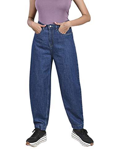 FREAKINS Baggy Jeans for Women & Girls (Mid Blue)